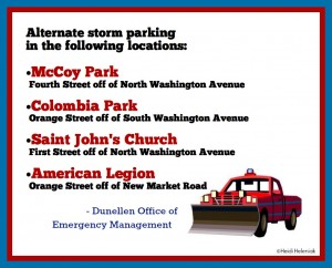 Dunellen Emergency / Alternate Storm Parking
