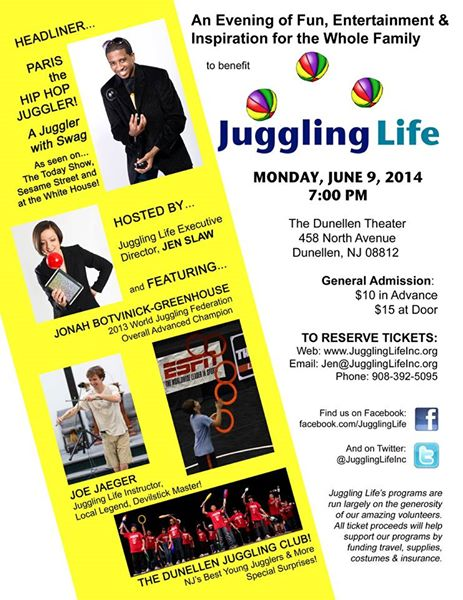 juggling Life Benefit 2014