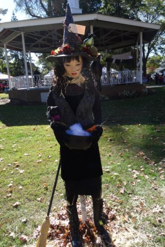 witch with broom scarecrow dunellen nj harvestfest
