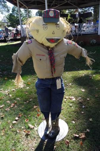 Webelos Scout scarecrow Dunellen HarvestFest