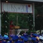 Herg Zhang, salutatorian addresses the graduating class of Dunellen High School.