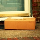 cardboard box on doorstep