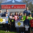 Dunellen Police promoting Slow Down Initiative at Faber Elementary School April 21, 2016.