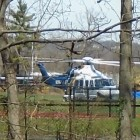Medical emergency helicopter landed on the Dunellen High School football field the morning of April 6, 2016.