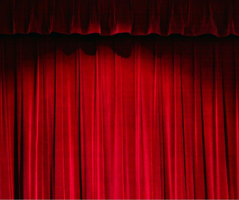 red theater curtains closed